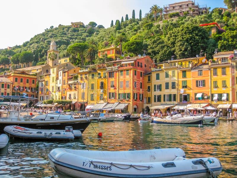 菲诺港意大利语里维埃拉 免版税库存图片