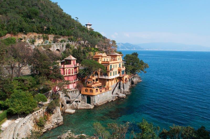 菲诺港,热那亚,利古里亚,意大利,意大利语里维埃拉,欧洲 免版税库存图片