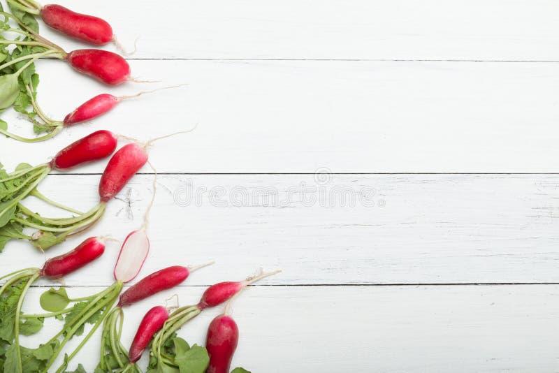 萝卜农业背景,明亮的早午餐,新鲜食品 r 免版税图库摄影