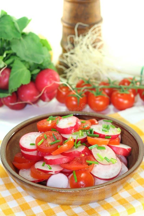 萝卜沙拉蕃茄 库存图片
