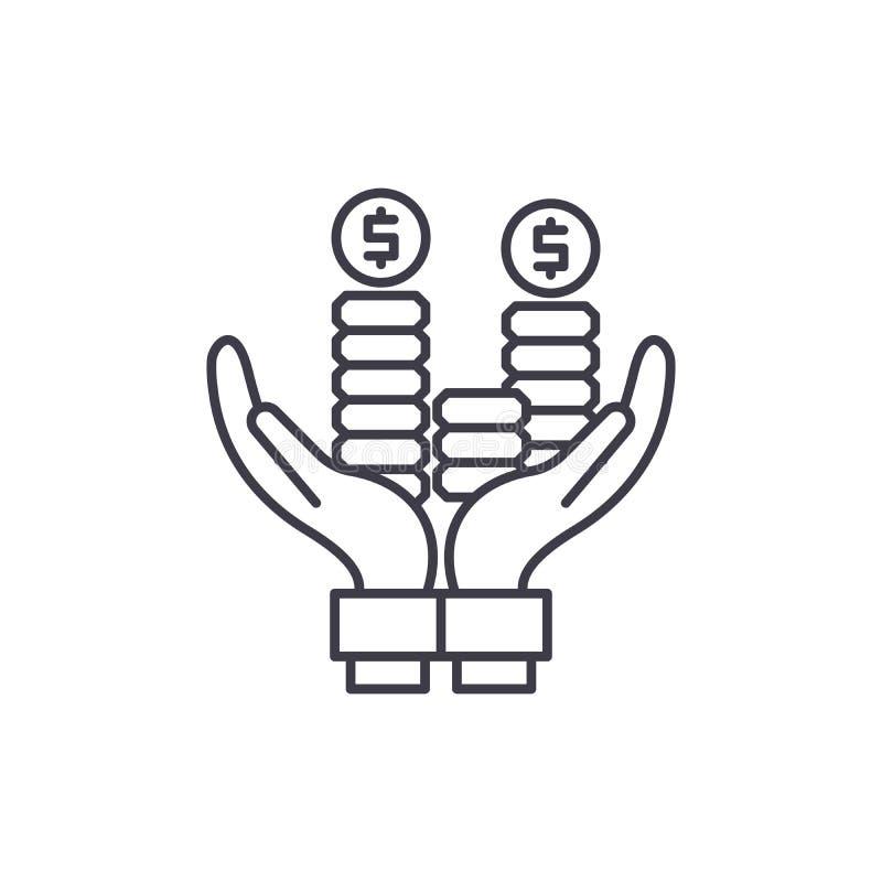 营业利润线象概念 营业利润传染媒介线性例证,标志,标志 向量例证