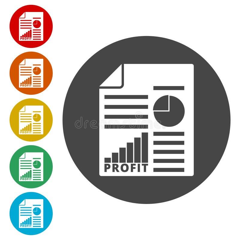 营业利润被设置的报告象 库存例证