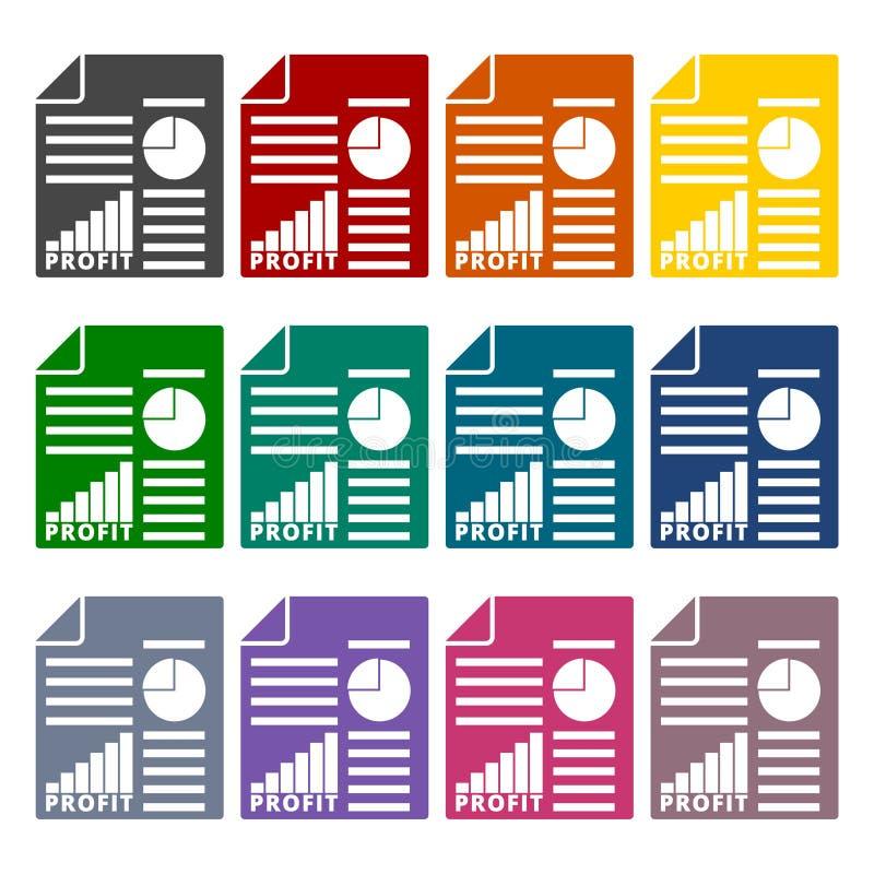 营业利润被设置的报告象 向量例证