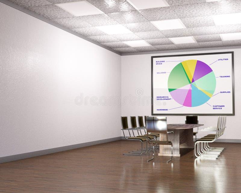 营业所会议室,空的空间 库存例证