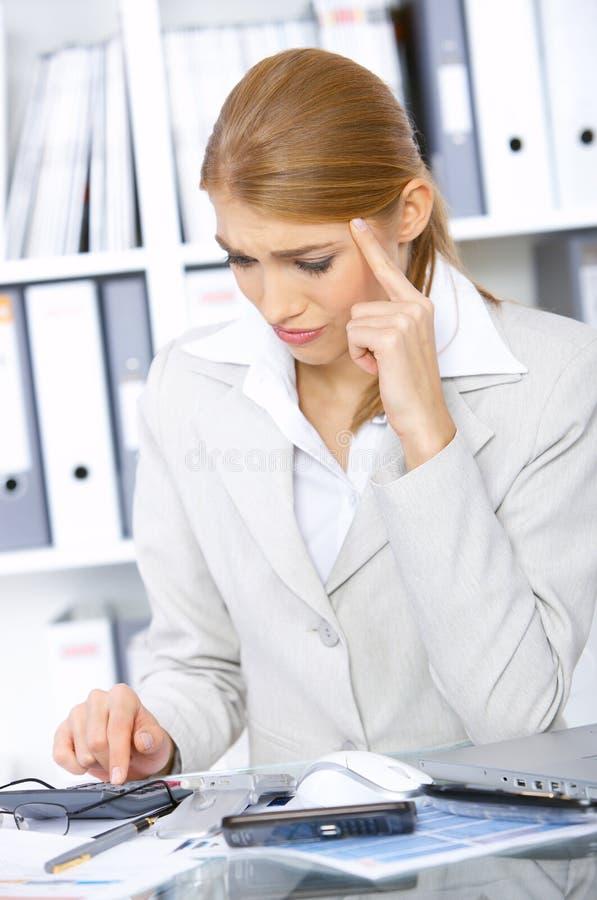 营业所妇女 免版税库存图片