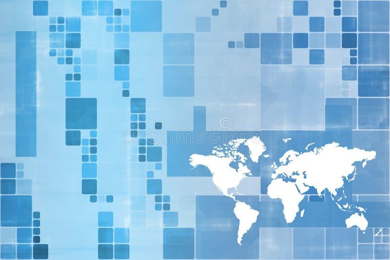 营业通讯宽世界 向量例证