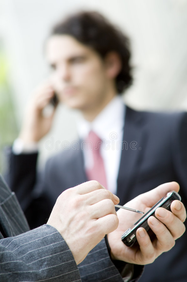 营业通讯设备 免版税图库摄影