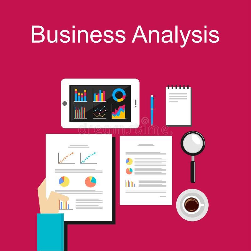 经营分析例证 事务的,计划,管理,事业,经营战略平的设计例证概念 向量例证