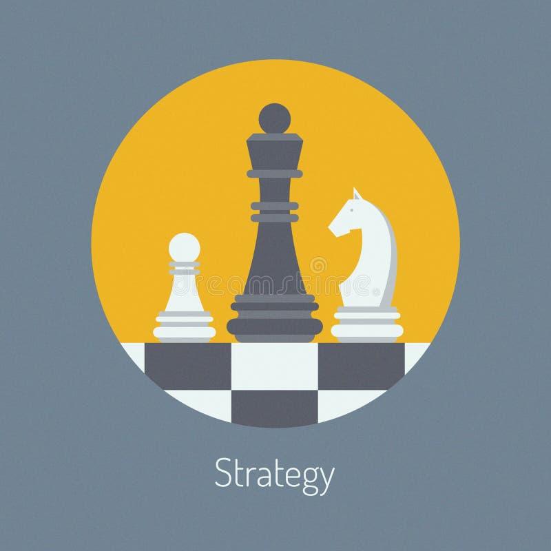 经营战略平的例证 库存例证