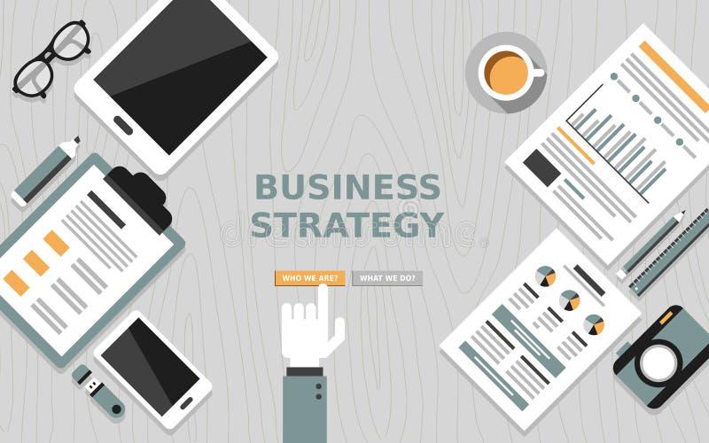 经营战略现代平的设计  库存例证