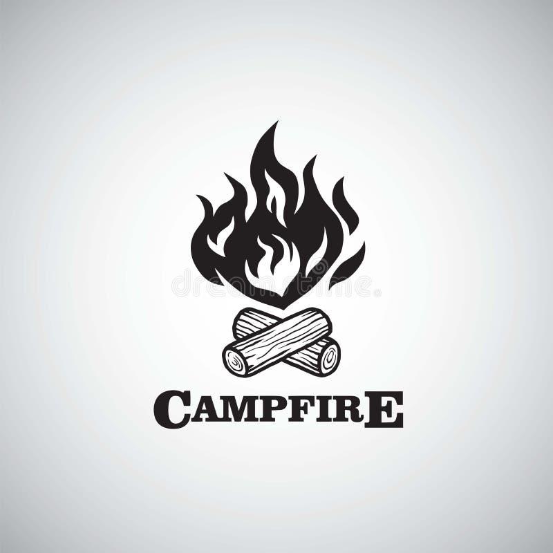 营火山冒险减速火箭的商标传染媒介例证 野营的,冒险假日活动模板 皇族释放例证