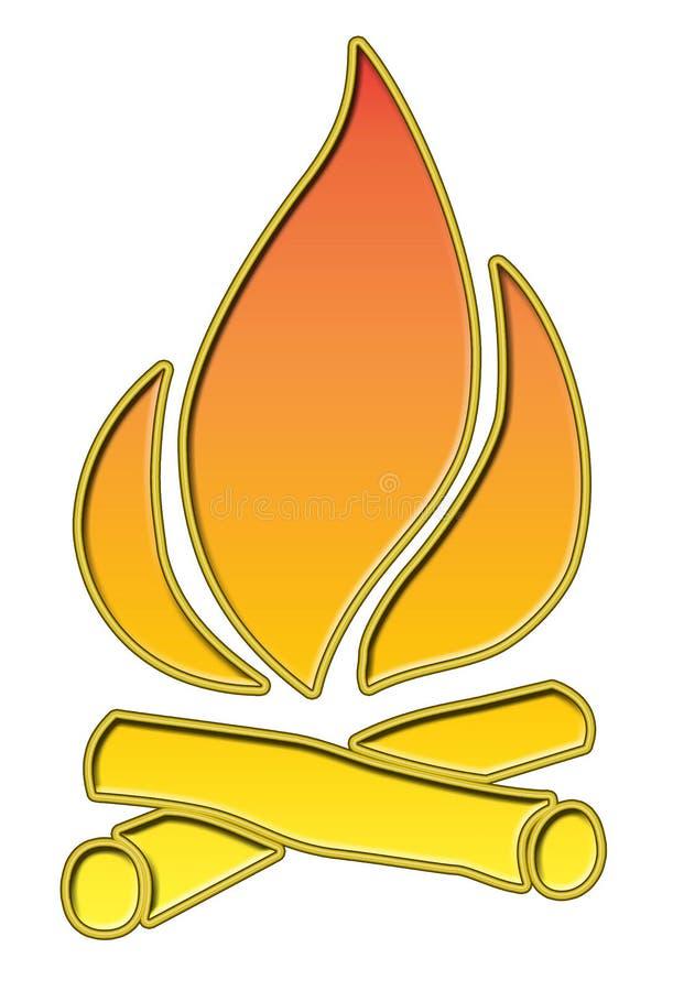 营火 向量例证