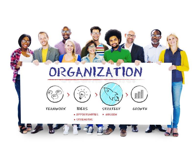 组织经营计划成长战略概念 免版税库存图片