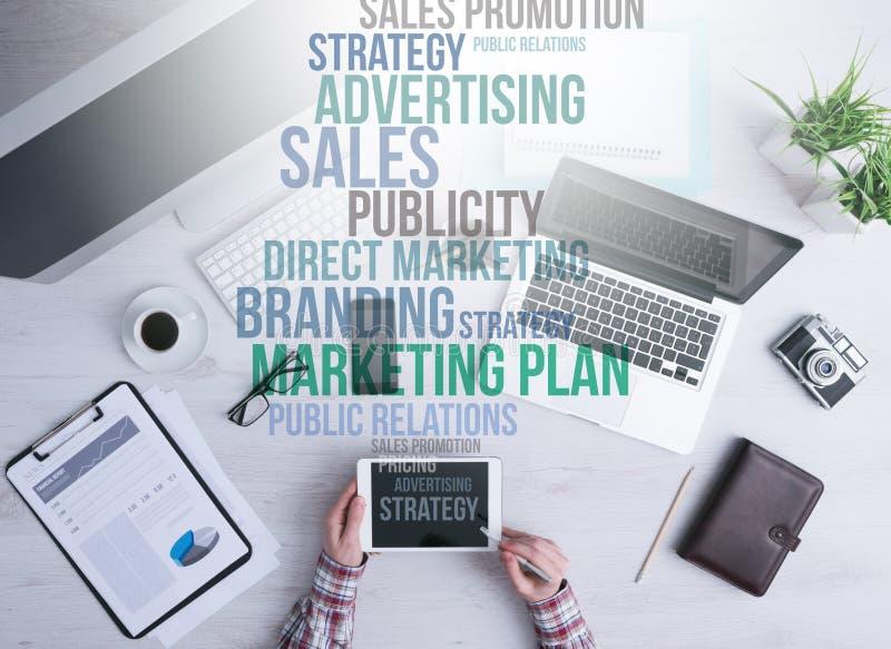 营销和企业概念 免版税库存照片