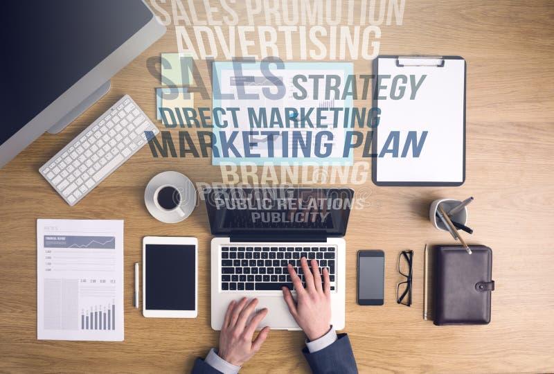 营销和企业概念 免版税图库摄影