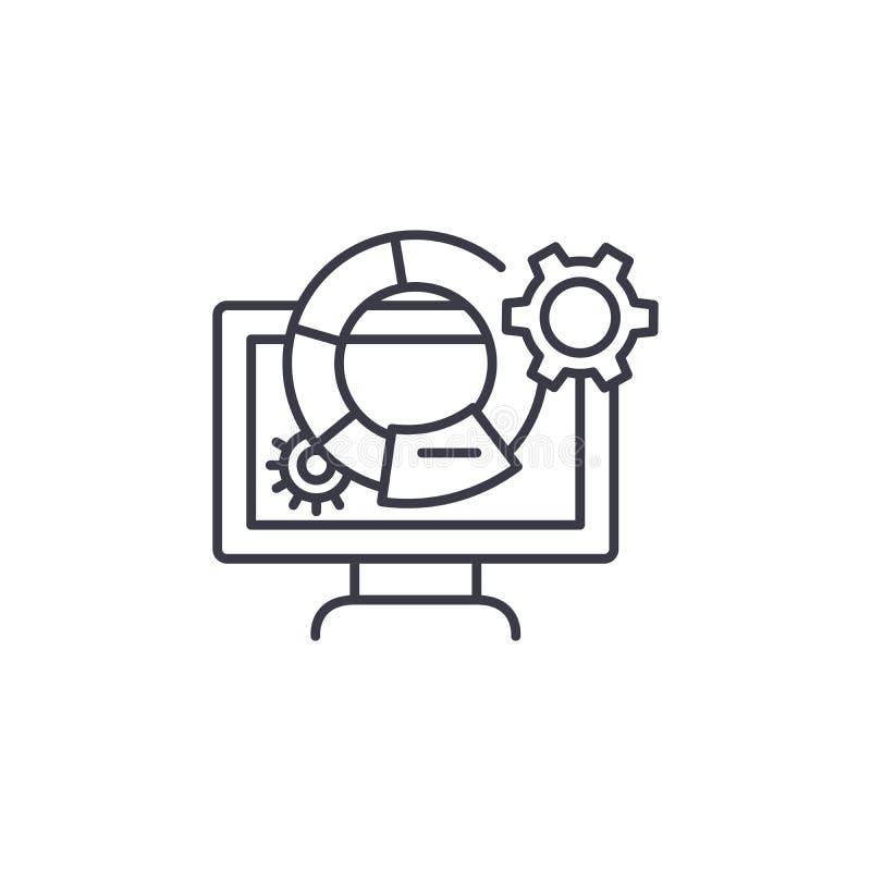 营销度规线性象概念 营销度规排行传染媒介标志,标志,例证 皇族释放例证