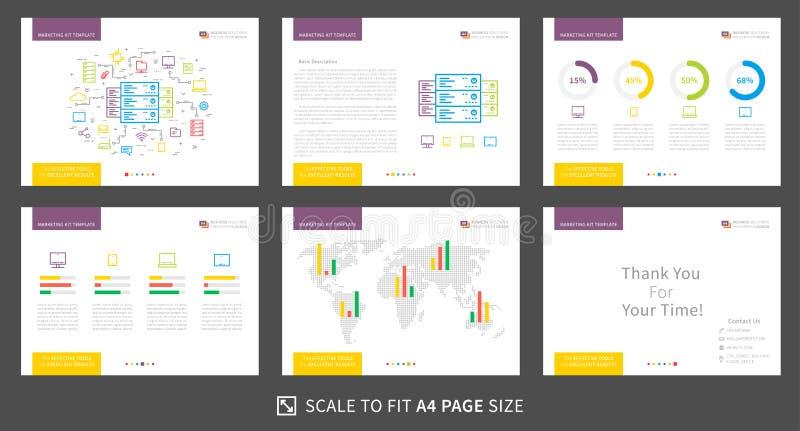 营销成套工具3 向量例证