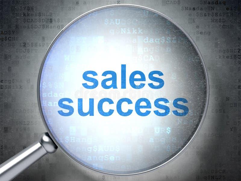 营销概念:与光学玻璃的销售成功 向量例证