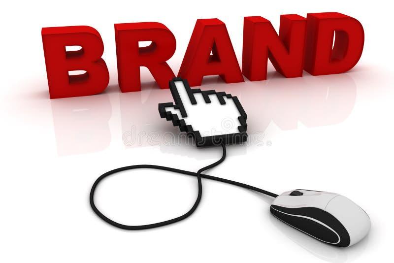 营销概念:词品牌 向量例证