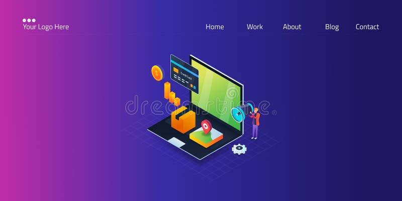 营销混合,经营战略,4p -产品,价格,地方,促进,等量设计,网横幅模板的概念 库存例证