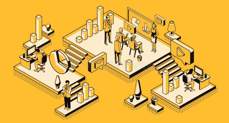 营销策略,财政分析公司 向量例证