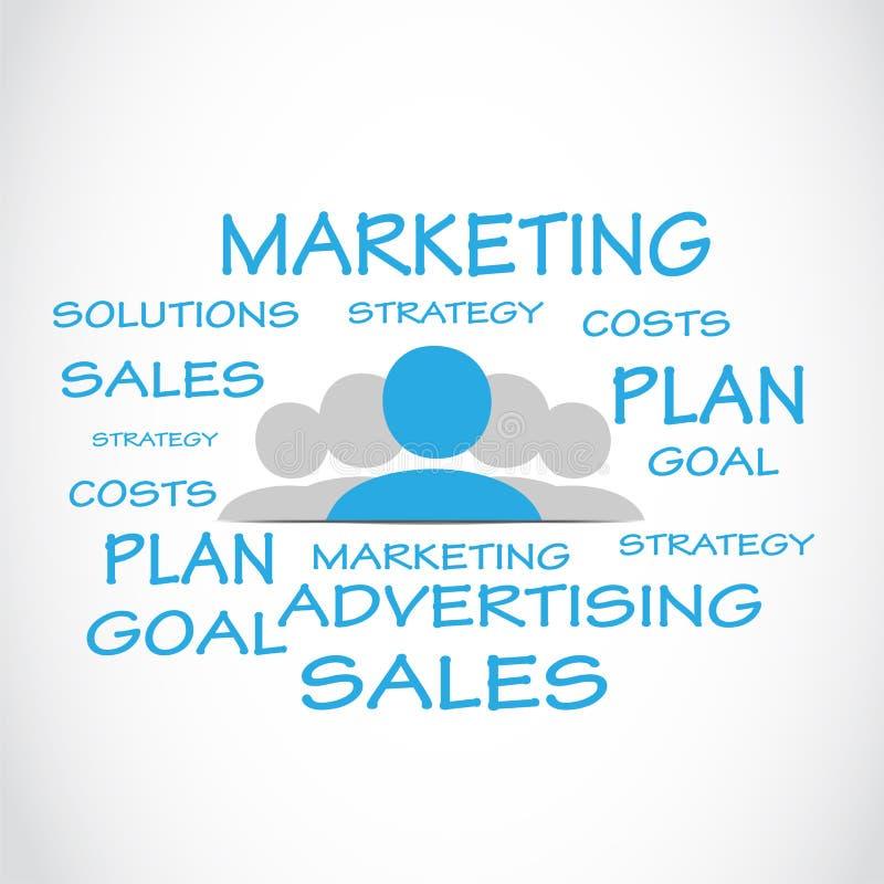 营销销售词云彩 向量例证