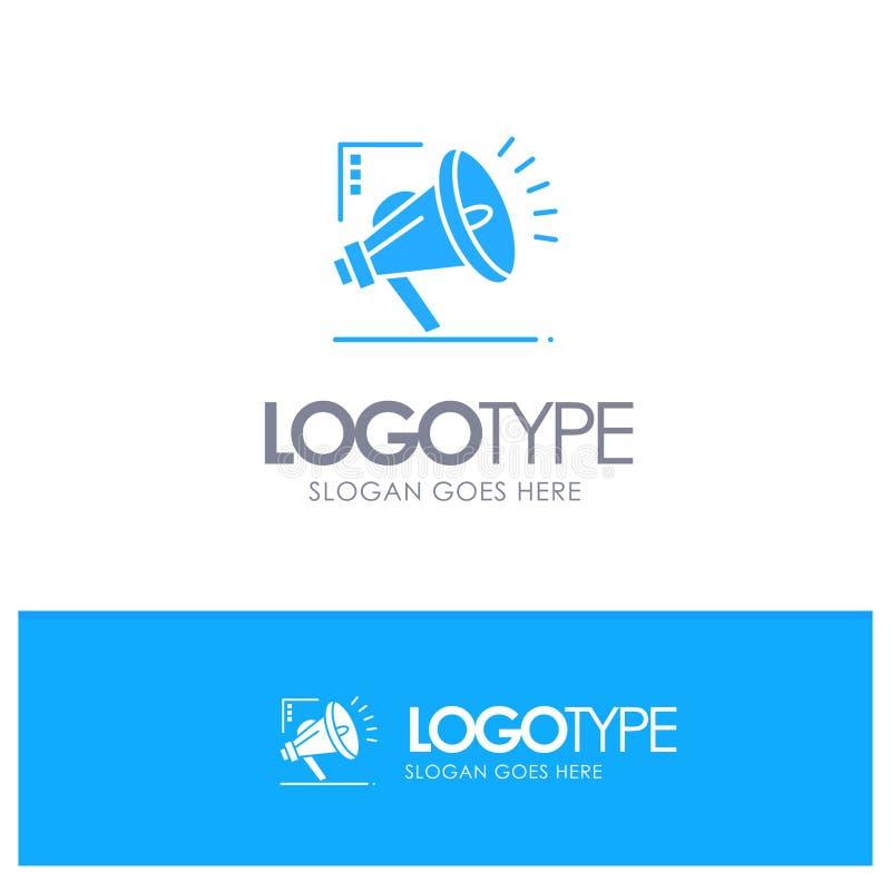营销,自动化,销售的自动化,与地方的数字蓝色坚实商标口号的 库存例证