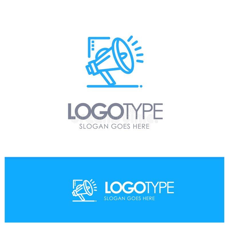 营销,自动化,销售的自动化,口号的数字蓝色概述商标地方 向量例证