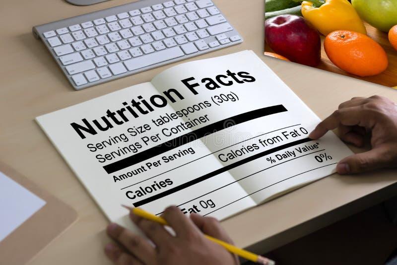 营养事实面筋自由食物腹腔疾病营养, Hea 图库摄影