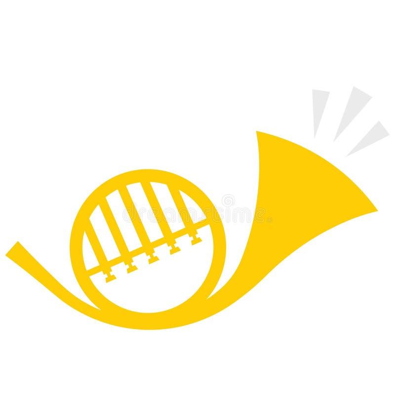 萨克斯管,喇叭可以容易地修改或编辑的传染媒介象 库存例证