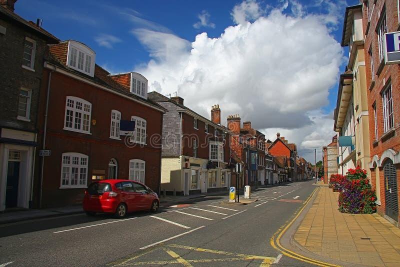萨利街道-英国 免版税库存照片