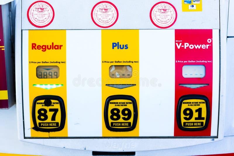 萨加门多,美国- 9月5日:9月的高壳汽油价格 免版税库存照片