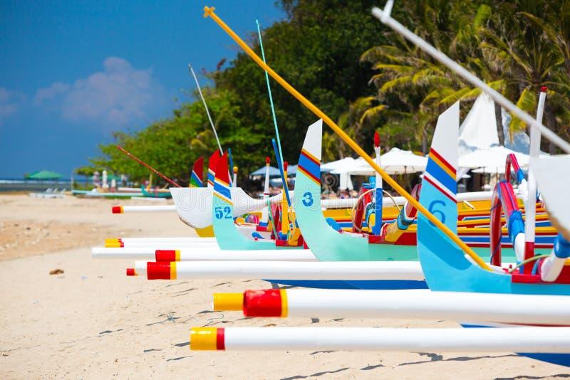萨努尔海滩场面 库存照片