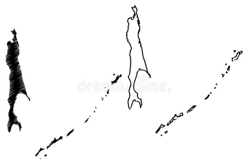 萨哈林州地图传染媒介 向量例证