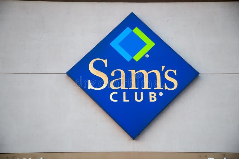 萨姆斯俱乐部商标标志 免版税库存图片