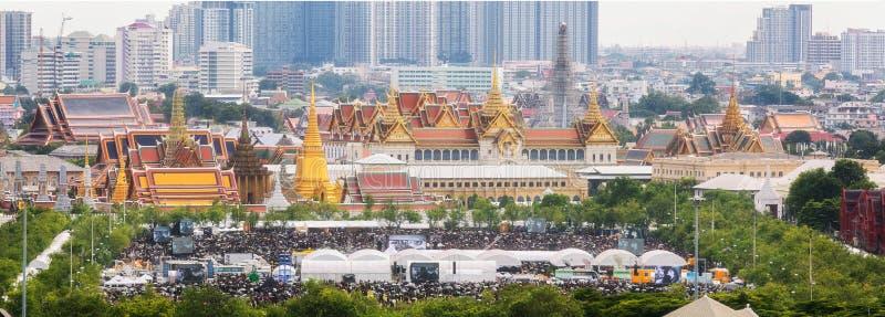 萨娜姆Luang,当身体泰国国王普密蓬・阿杜德时 库存图片