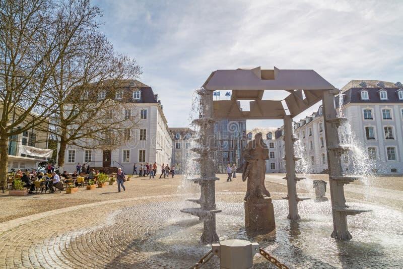 萨尔布吕肯城堡  免版税图库摄影