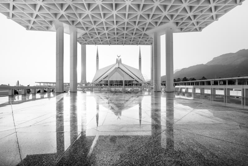 费萨尔清真寺伊斯兰堡巴基斯坦 免版税库存照片