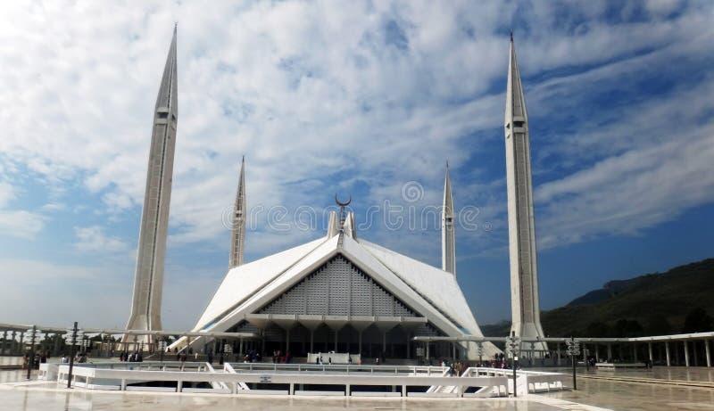 费萨尔清真寺,伊斯兰堡 库存照片