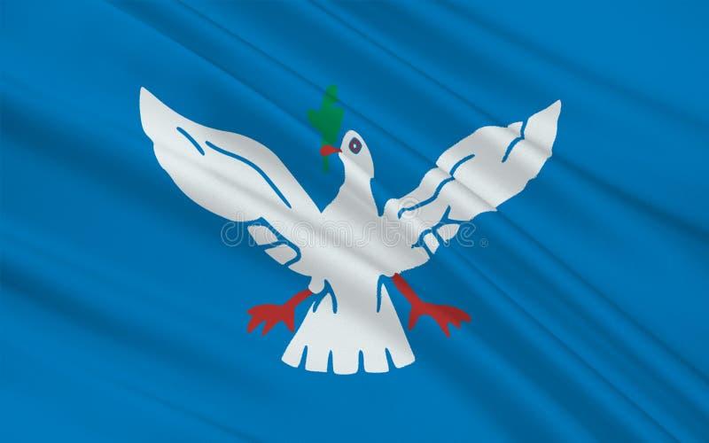 萨尔瓦多旗子在巴伊亚,巴西 库存例证