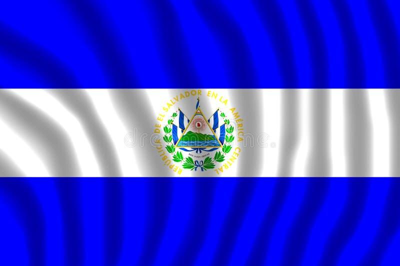 萨尔瓦多旗子振翼 库存例证