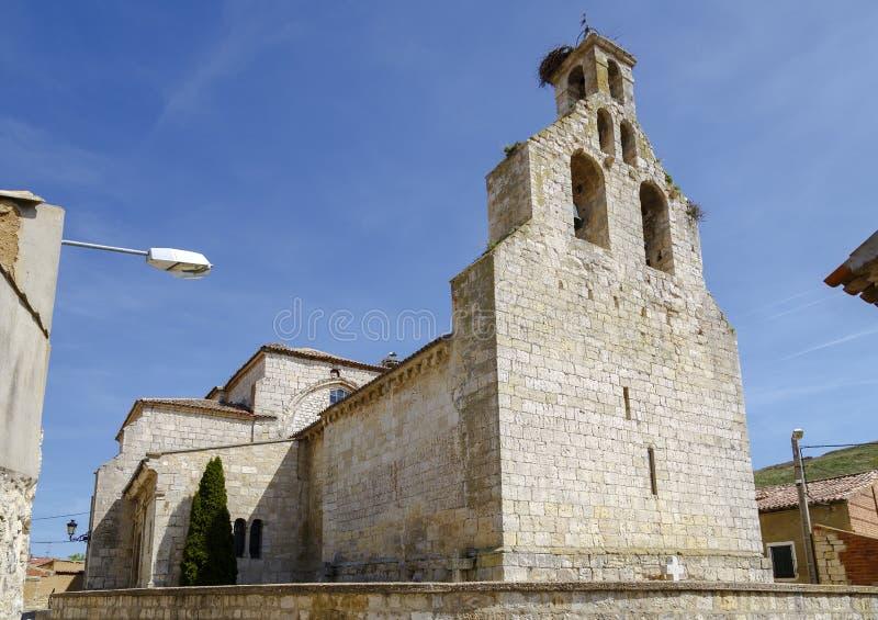 萨尔瓦多的教区教堂在Monzon de坎波斯 免版税库存图片