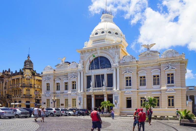 萨尔瓦多,巴西,里约布兰科宫殿 库存图片