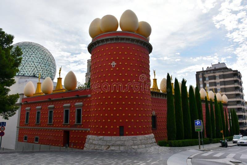 萨尔瓦多・达利博物馆在菲盖尔 免版税库存图片
