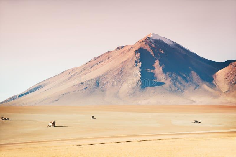 萨尔瓦多・达利沙漠在Altiplano,玻利维亚 免版税库存照片