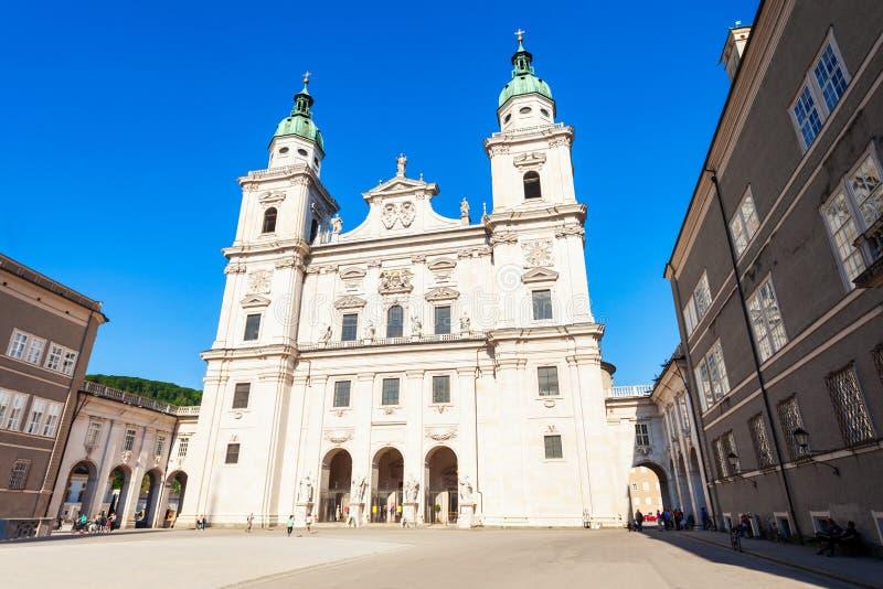 萨尔茨堡主教座堂在萨尔茨堡 免版税库存图片