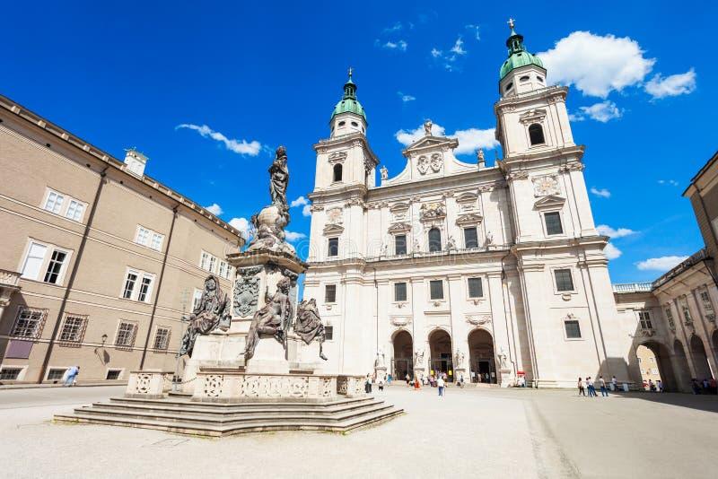 萨尔茨堡主教座堂在萨尔茨堡 免版税图库摄影