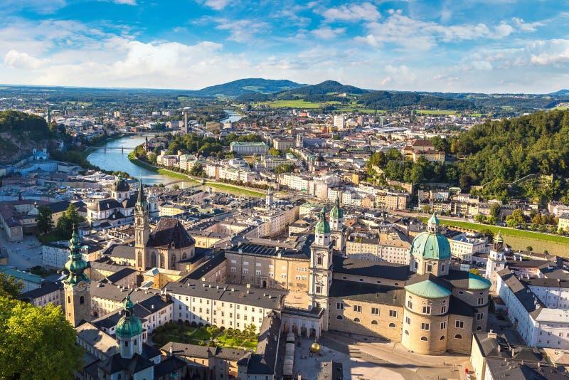 萨尔茨堡全景  免版税库存照片