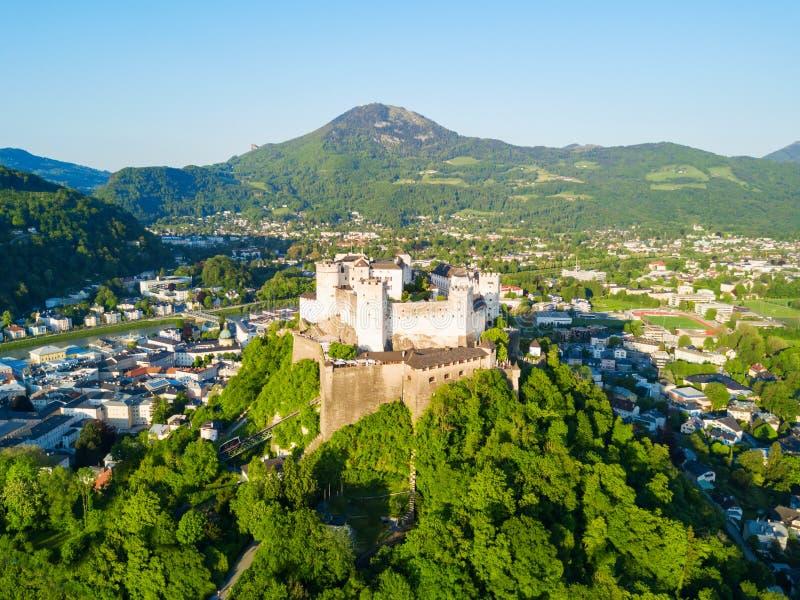 萨尔茨堡鸟瞰图,奥地利 库存照片