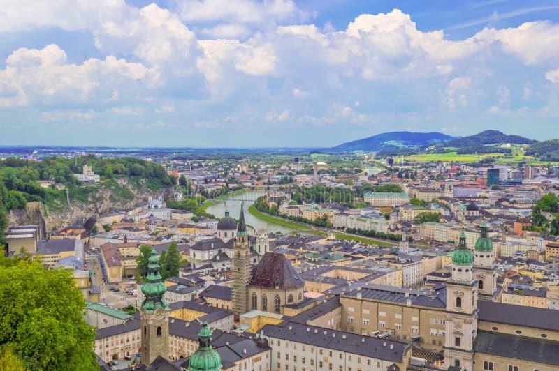 萨尔茨堡,奥地利地标  库存照片
